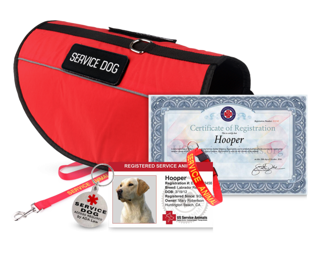 Service Animal ID and Certificate